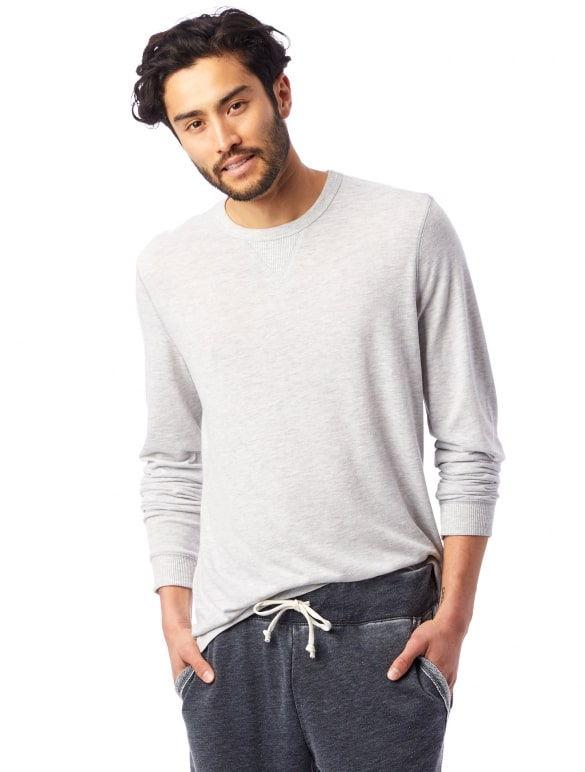Alternative Apparel Model in sweats and a long sleeve shirt