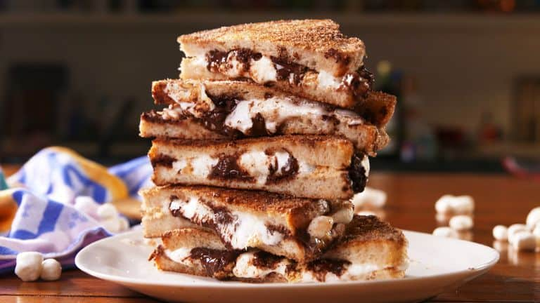 melted smores sandwich